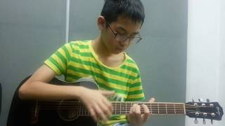 Paddy Sun) Sunflower Fingerstyle guitar Cover 國小生吉他演奏