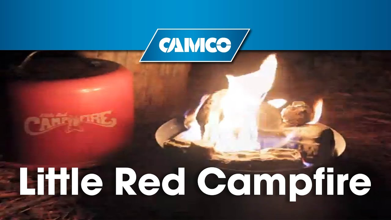 Instant Campfire Anywhere Camco S Little Red Campfire Youtube