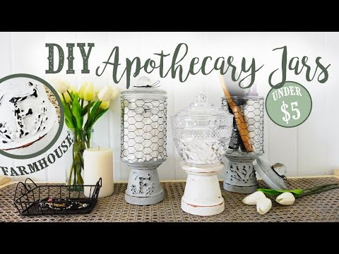 DIY Apothecary Storage Jars   Farmhouse Style   + ANNOUNCEMENT & UPDATE