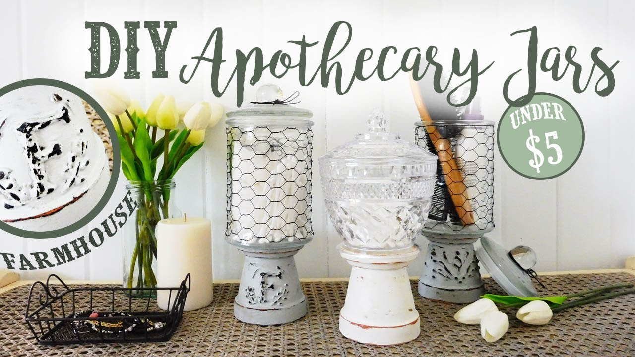 DIY Apothecary Storage Jars | Farmhouse Style | + ANNOUNCEMENT U0026 UPDATE