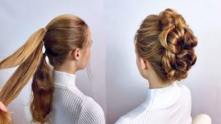 Легкая прическа на длинные волосы Простые прически пошагово