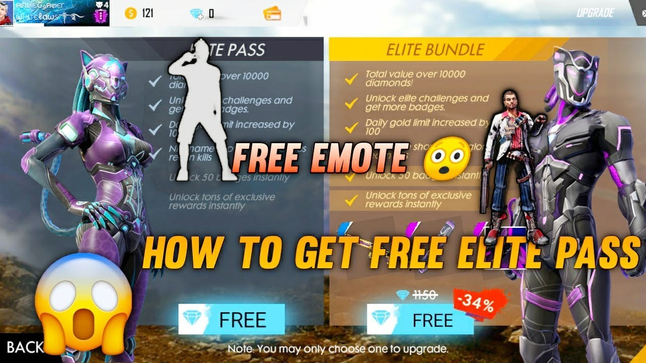 HOW TO GET FREE ELITE PASS &FREE EMOTES IN GARENA FREE FIRE 100% REAL