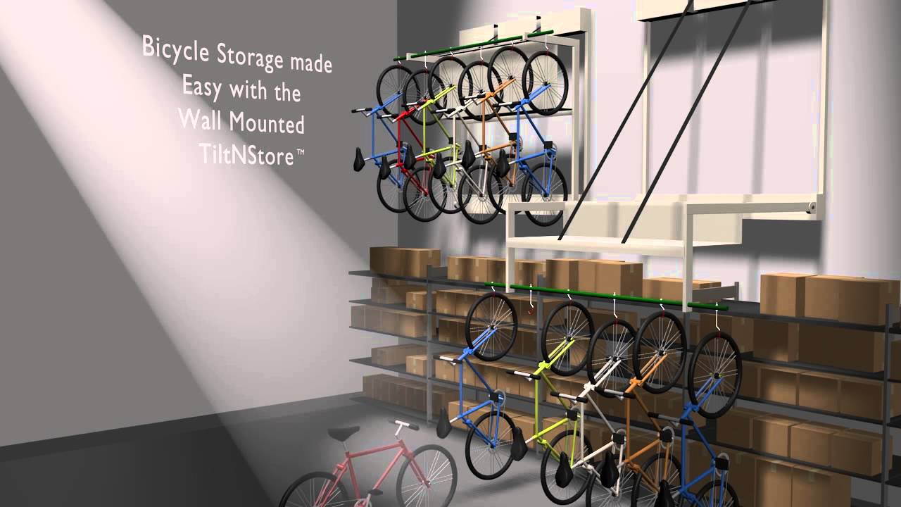 Optimize Bike Storage With Wall Mounted Hanging Bicycle
