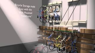 Optimize Bike Storage With Wall Mounted Hanging Bicycle Racks