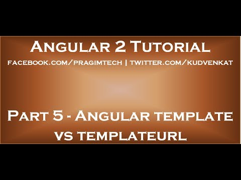 Angular template vs templateurl