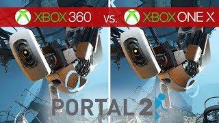 Portal 2 Comparison - Xbox 360 vs. Xbox One X