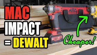 Mac Tools 18V Impact - Buy the DeWalt Instead