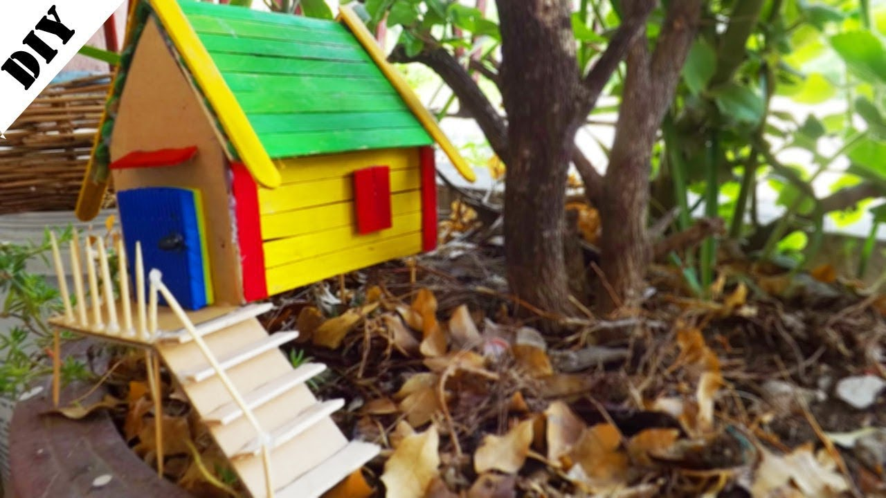 How to make a Popsicle stick House - Easy and Quick Tutorial