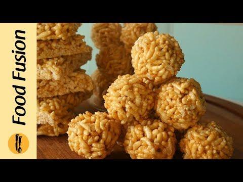 Chikki with Puffed Rice/ Murmura Laddu Recipe By Food Recipes
