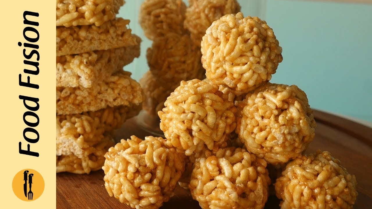 Chikki with Puffed Rice/ Murmura Laddu Recipe By Food Fusion