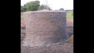 Make Your Own Round Bale Hay Net As A Horse Feeder.