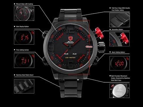 REVIEW SHARK SH105 Analog Digital LED black Quartz Wrist Military Watch by  AliExpress Forocoches 5c9e9b0825e