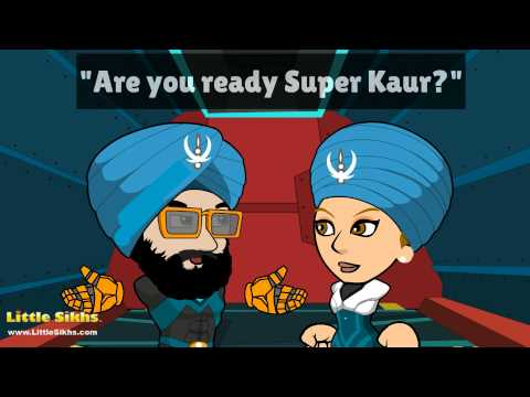The Adventures of SUPER KAUR and SUPER SINGH by Little Sikhs (Krodh 'anger' and meditation)