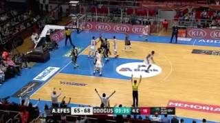 Anadolu Efes - Darüşşafaka Doğuş Yarı Final 1. Maç Üçlükler