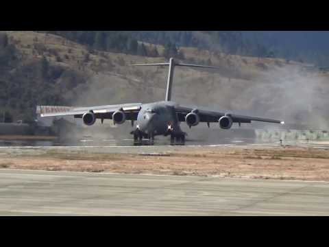 IAF biggest carrier plane globemaster landed near china border in arunachal