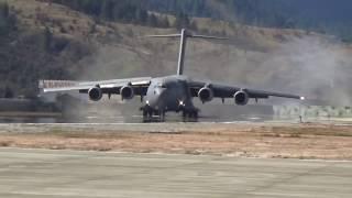 IAF biggest carrier plane globemaster landed near china border in arunachal