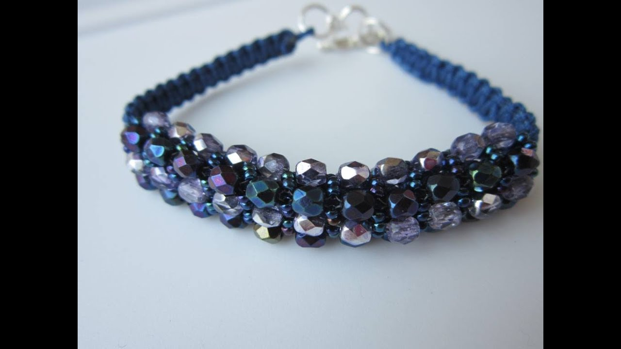 Shamballa Bracelet Faceted Beads And Seed Beads