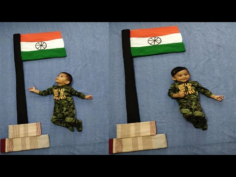 DIY Baby Independence Day Theme Baby Photoshoot | Baby Photography At Home | #babyphotoshoot | 15August | DIY