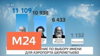 Смотреть видео Новые имена аэропортам выбрали почти 2 млн россиян - Москва 24 онлайн