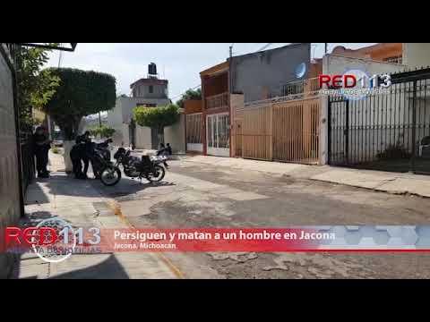 VIDEO Es perseguido y asesinado a tiros en Jacona