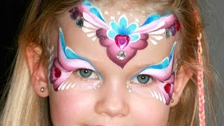 Repeat youtube video Pink-Herz Prinzessin Kinderschminken Anleitung - Eine Prinzessin schminken für Fasching
