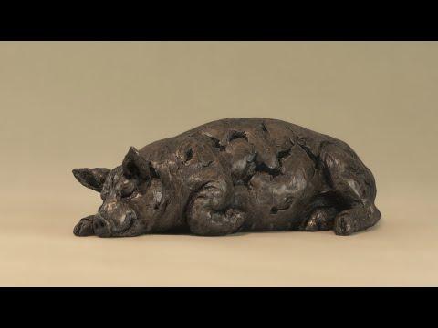 Sleeping Pig BR   Tanya Russell   Animal Sculptor, Www Tanyarussell Com