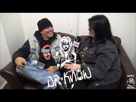 Brandon Cruz  DR KNOW   & Live Footage  Discussing Dr Know History 15  MPRV