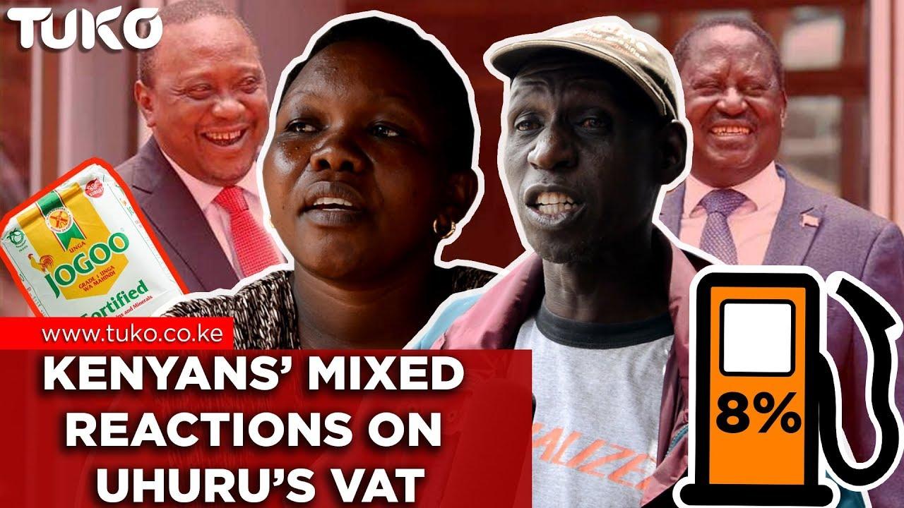 Latest Kenya News: Kenyans' Reactions to President Uhuru's VAT Bill | Tuko TV