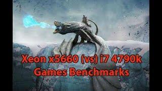 Xeon x5660 4.4Ghz vs i7 4790k 4.5Ghz Games Benchmarks Vol.1