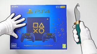 "Video PS4 ""DAYS OF PLAY"" LIMITED EDITION CONSOLE! Unboxing Playstation 4 Slim Blue Collector's Special download MP3, 3GP, MP4, WEBM, AVI, FLV Juni 2018"