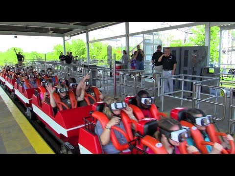 First riders on the New Revolution at Six Flags St. Louis HD off-ride @60fps