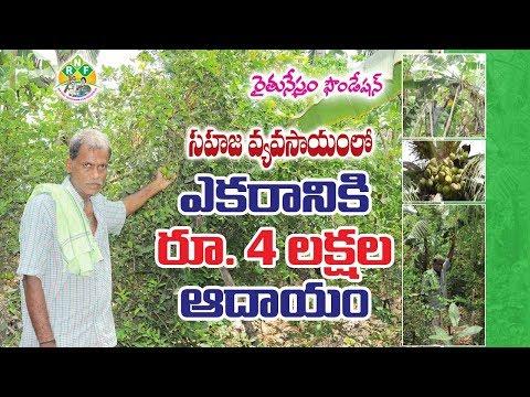 4 Lakhs Income Per One Acre by Natural Farming  || సహజ వ్యవసాయంతో ఎకరానికి రూ.4 లక్షల ఆదాయం