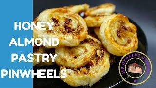 Honey Almond Pastry Pinwheels Recipe - How To Make    Msdessertjunkie
