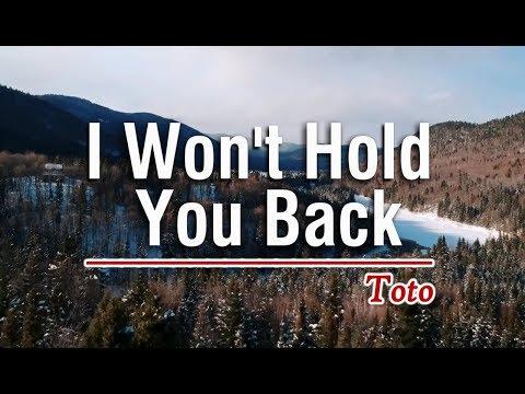 I Won't Hold You Back - Toto (KARAOKE)