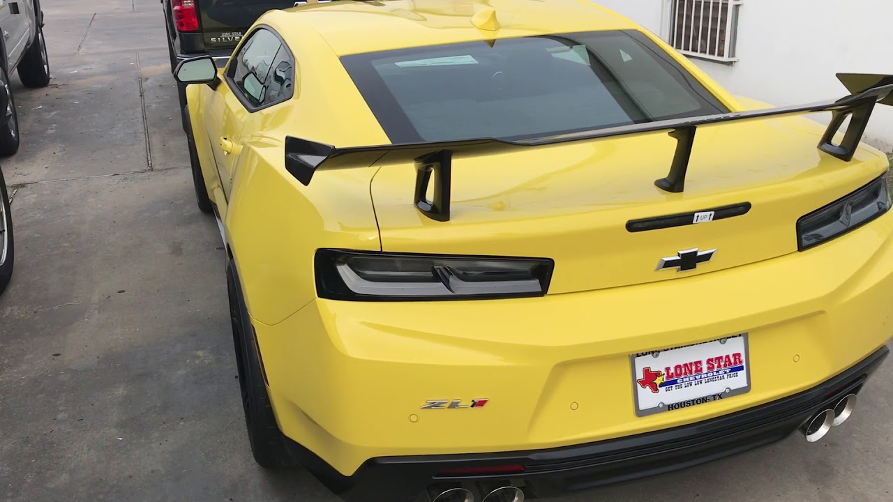 2018 Camaro Zl1 1le Yellow Youtube