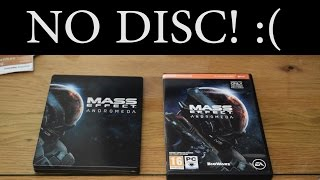 Mass Effect Andromeda No Disc for the PC? Rant