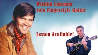 Wichita Lineman, Glen Campbell, fingerstyle guitar arrangement, Jake Reichbart