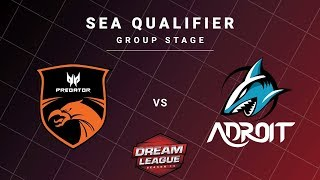 TNC Predator vs Adroit Game 1 - DreamLeague S13 SEA Qualifiers: Group Stage