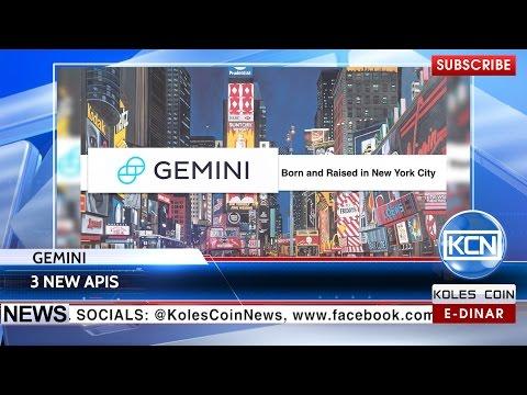 KCN News: Gemini Adds 3 New APIs