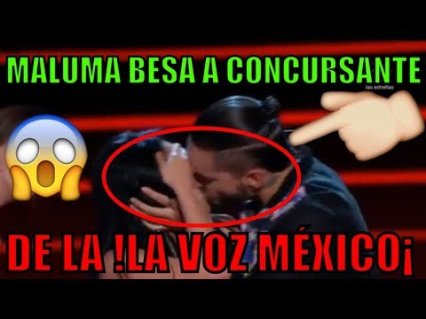 MALUMA BESA a HERMOSA CONCURSANTE de la !VOZ MÉXICO!(VIDEO)