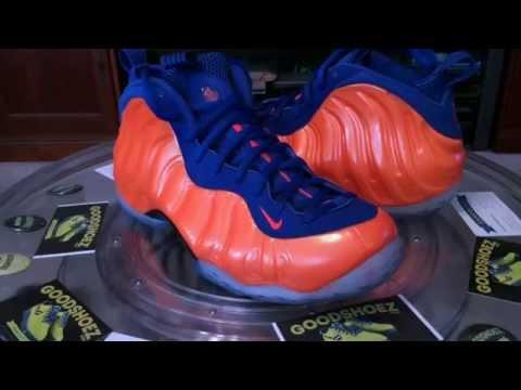 b10cf107f49d4  Nike Air Foamposite One - Knicks   Orange Royal Blue - 11.29.2014 - YouTube