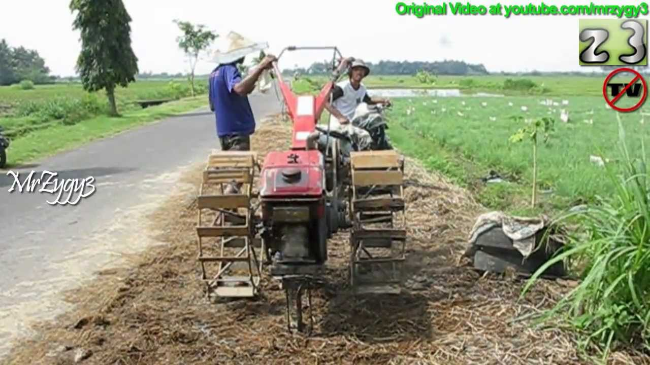 Yanmar Tractor 2 Wheel : Yanmar hand tiller two wheel tractor walking down