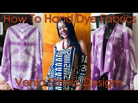How To Hand Dye Fabrics | Shibori Dyeing Art || Venia Ethnic Designs