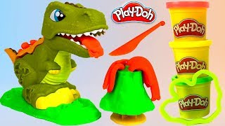 PLAY-DOH REX THE CHOMPER T-REX DINOSAUR- UNBOXING