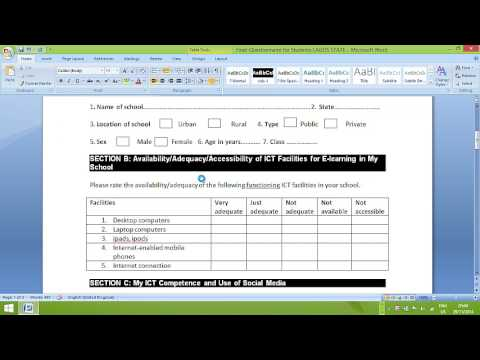 Creating Data Entry Form Using Microsoft Access by Peter A. Okebukola