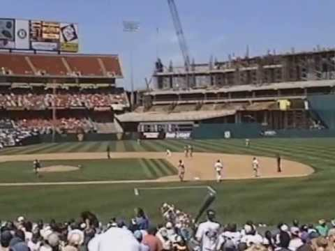 Oakland A's THE BUILDING OF MT. DAVIS. May 11, 1996
