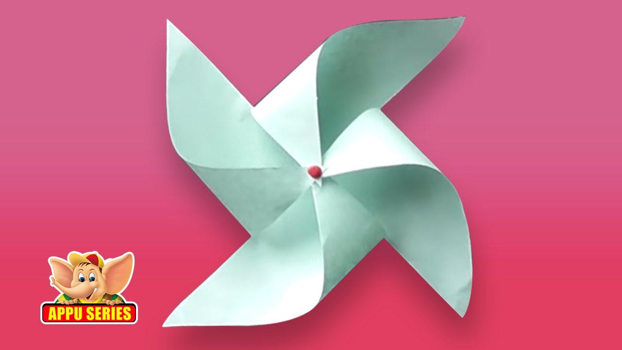 Make A Pinwheel The Easy Way Arts Crafts Youtube