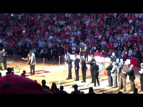 Halftime Celebration of 20th Anniversary of the 1993-94 and 1994-95 NBA Champion Houston Rockets