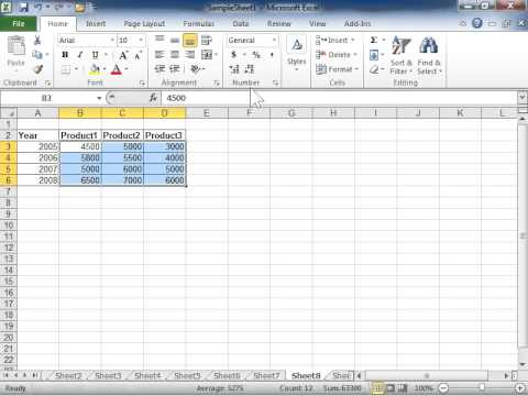 comma format excel Excel 2010 Use the Comma Style Button - YouTube