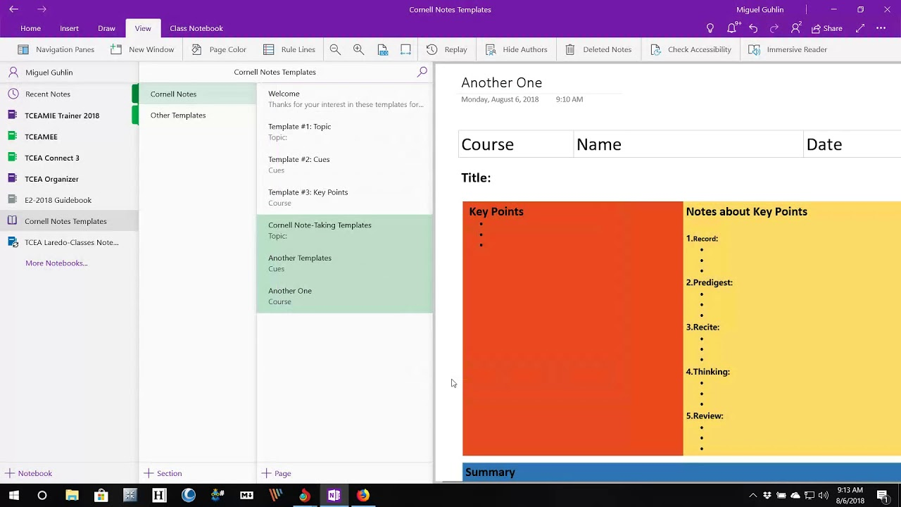 Go Digital with Cornell Note-Taking and the OneNote App